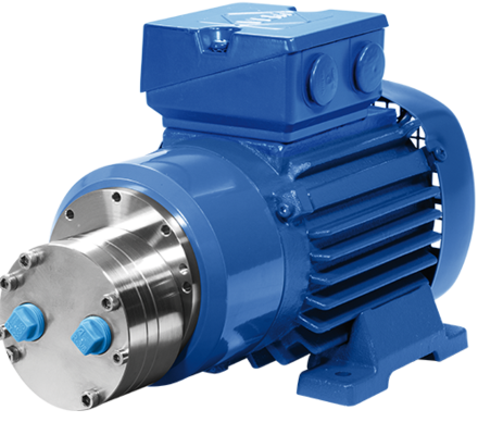 Verdergear gear pumps are perfectly suitable for demanding applications in fluid transfer for dangerous liquids or expensive chemicals. They produce a very constant pulsation free flow without leackage. The magnetically driven gear pumps have no shaft seals and are 100% leakfree. The pumps are perfect for dosing small volumes in a precise and reproducible way.