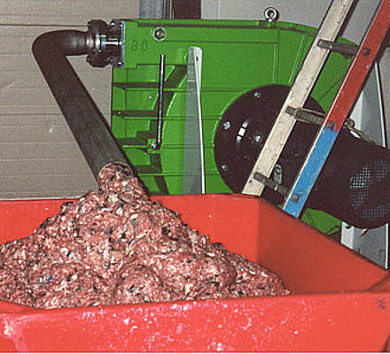 A fish processing plant in northern France fillets whole fish, then processes the remaining parts for petfood and frozen blocks for shark attractants.
