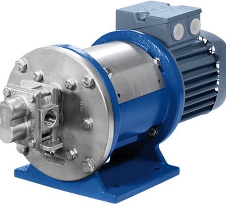Verdergear Process gear pumps are universal applicable industrial pumps. The standard sealed (packing mechanical seals) and magnetic coupled gear pumps are suitable especially for transfer and dosing applications in the medium flow-rate. The housing and the gears are available in different materials