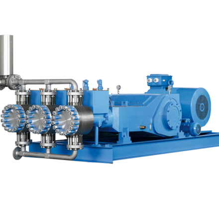 Verderbar HMT-HMQ pumps is a series of hydraulic diaphragm pumps (Triplex) with intelligent balanced long life diaphragms.