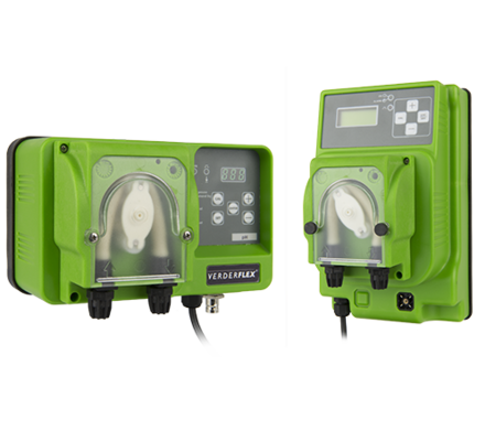 Verderflex VP peristaltic tube pumps are compact pumps ideal for precision dosing of chemicals; offering models with integrated functions such as timer, pH control or Redox control.  The system is self priming, with an innovative stable flow control to maximise tube life.Common application areas are in the chemical industry, medical industry, laboratory and analysis, swimming pools, cleaning & hygiene. Verder engineers are always seeking to further improve the user-friendliness and the accuracy of our dosing systems and panels, through research and development in cooperation with our customers. We can build any pump needed for your application!