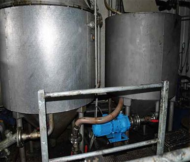 Feeding & transferring product slurry