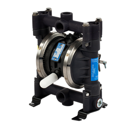 Verderair air operated diaphragm pumps are excellent drum pumps. For the emptying of small barrels, containers, canisters and drums (approx. 200 litres) of all kind of chemicals such as acids or lyes, a double diaphragm pump is a very good alternative to a conventional rod drum pump. Diaphragm pumps can pump corrosive, viscous and abrasive fluids with ease.