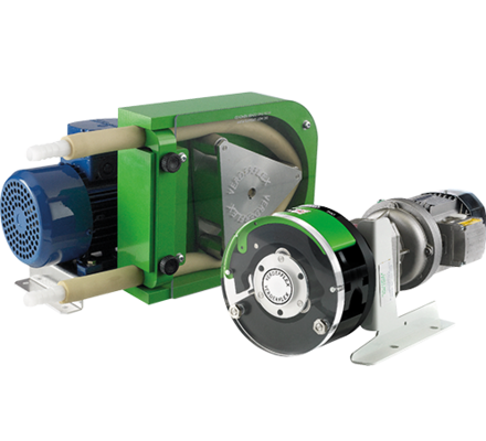 The Rapide is a compact peristaltic tube pump which can be installed as a unit in itself or integrated into a system such as a printing press or packaged turnkey skid.  Suitable for rugged environments, the range uses an IP55 rated gear motor and is assembled in a heavy duty aluminium housing. The tube is 'thick-walled' for the safe and reliable handling of abrasive, corrosive and viscous fluids such as chemical solutions, fine slurry, inks, dyes, additives and other dosing fluids.